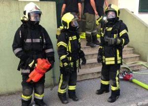 Atemschutzübung im Angererdorf