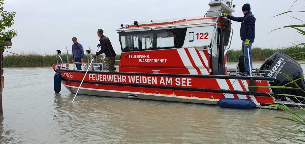 Ankunft des Feuerwehrboots